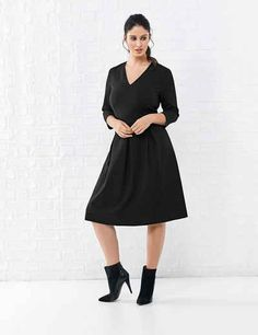 Samoon Kleid Langarm kurz »Kleid mit Stretchkomfort«