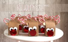 DIY Christmas Rudolph class gifts featuring Stampin' Up! baker's box and supplies