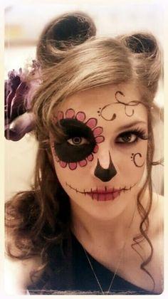 Dia de los Muertos Makeup :)