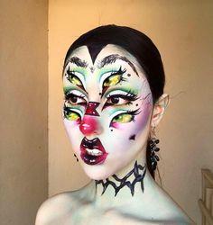 Emo Makeup, Crazy Makeup, Makeup Art, Makeup Tips, Makeup Looks, Cute Halloween, Halloween Face Makeup, Special Effects Makeup, Creative Makeup