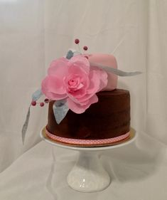Birthday Cake Wafer Paper Rose Wafer Paper, Paper Roses, Birthday Cake, Cakes, Desserts, Food, Pies, Tutorials, Tailgate Desserts