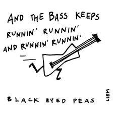 Black Eyed Peas. Let's get it started. 365 illustrated lyrics project, Brigitte Liem.