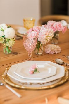 Ombre tablescape for fall by Kate Martindale
