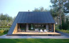 Cabin project in scandinavian style. @paoarchitects . #cabin #architecture #design #wood #modern #terrace #bolig #sommarhus #villa