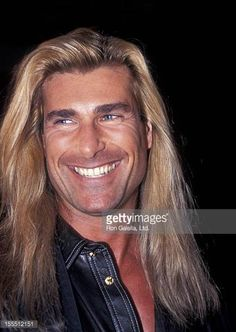 Model Fabio attends the benefit for Homeless Children on January 4 1995 at the Old Homestead Steakhouse Restaurant in New York City