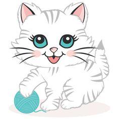 icu ~ Pin en gatos ~ Cute Kitten SVG scrapbook cut file cute clipart files for silhouette cricut pazzles free svgs free svg cuts cute cut files Cute Cats And Kittens, Cool Cats, Kittens Cutest, Cute Cat Names, Kitten Drawing, Scrapbook Images, Kitten Cartoon, Animal Gato, Cat Clipart