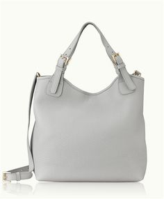 be15af209d55 GiGi New York Olivia Shopper Pebble Grain Grey Tote Bags