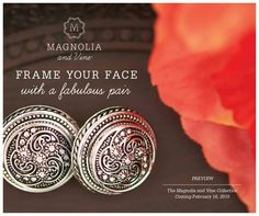 Frame your face with a fabulous pair!  * * * * * * * * * * * * * * * * * * * * Melissa Spencer, Magnolia and Vine Independent Style Consultant * * * * * * * * * * * * https://www.facebook.com/pages/Magnolia-and-Vine-by-Melissa-Spencer-Independent-Style-Consultant/561934140615637 * * * * * * * * #magnoliaandvine #snapjewelry #founder