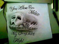 Phantom of the Opera by goldiechik on DeviantArt This would make an AMAZING tattoo