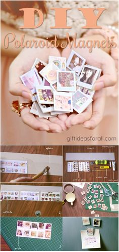 """The Best DIY project """"Polaroid Magnets"""" for mothers day as personalized handmade gifts always work best. The Best DIY project """"Polaroid Magnets"""" for mothers day as personalized handmade gifts always work best. Easy Diy Mother's Day Gifts, Homemade Mothers Day Gifts, Mothers Day Gifts From Daughter, Diy Baby Gifts, Mother's Day Diy, Mothers Day Crafts, Grandma Gifts, Gift For Mother, Mother Day Gifts"""