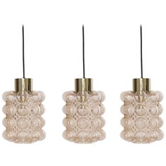 1 of 3 Bubble Glass Pendant Lights by Helena Tynell for GlashüTte Limburg | From a unique collection of antique and modern chandeliers and pendants at https://www.1stdibs.com/furniture/lighting/chandeliers-pendant-lights/