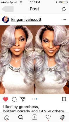 Braids With Weave Wig Hairstyles Pretty Grey Hairstyle Ombre Hair