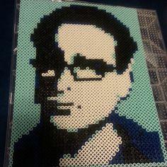 Leonard portrait Big Bang Theory perler beads by chrissy2134- Original design by Pamela Z: http://www.etsy.com/shop/MostFavoriteAunt