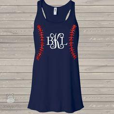 womens monogram baseball top, glitter baseball dark tank top