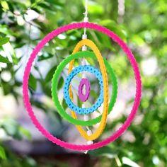 DIY Perler Bead Rainbow Wind Spinners | Karen Kavett