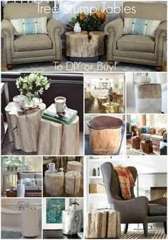 Tree Stump Tables to
