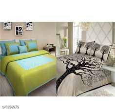 Bedsheets Trendy Cotton 90X100 Double Bedsheets  Fabric: Cotton No. Of Pillow Covers: 4 Thread Count: 170 Multipack: Pack Of 2 Sizes: Queen (Length Size: 100 in Width Size: 90 in Pillow Length Size: 27 in Pillow Width Size: 17 in) Country of Origin: India Sizes Available: Queen   Catalog Rating: ★4 (491)  Catalog Name: Attactive Cotton 100X90 double Bedsheets vol 2 CatalogID_758007 C53-SC1101 Code: 896-5134979-7971