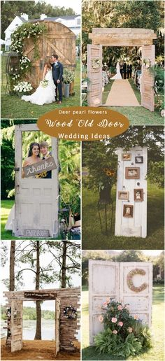 Rustic old door wedding decor ideas / http://www.deerpearlflowers.com/rustic-woodsy-wedding-decor-ideas/ #rusticwedding #countrywedding #weddingdecor