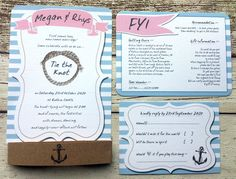 Vintage Anchors Aweigh Nautical Wedding Invitation Sample Destination Travel Sea for sale online Quirky Wedding Invitations, Wedding Invitation Samples, Wedding Stationery, Invites, Nautical Wedding Theme, Wedding Themes, Wedding Ideas, Best Friend Wedding, Marrying My Best Friend