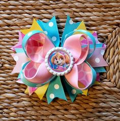 Skye from Paw Patrol Hair bow by 3princessesfrog on Etsy