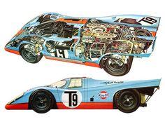 Porsche 917 K cutaway