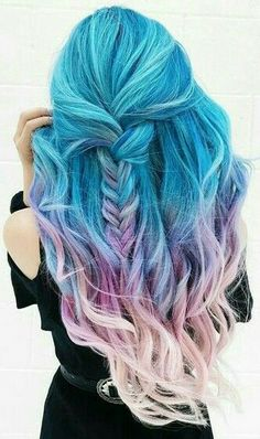 Rainbow Hair #hair #hairstyle #haircolor #rainbow pinterest-anichamola