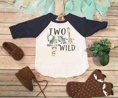 Two Wild Shirt Zoo Birthday Shirt Toddler Raglan Shirts