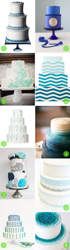 Top 10: Blue wedding cakes