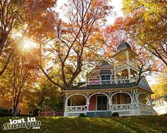I love the old houses in Petoskey's Bay View Association, especially during autumn  I still have a few Lost In Michigan calendars left but they are going fast, you can get one on the website while they are on sale this weekend here http://lostinmichigan.net/shop/