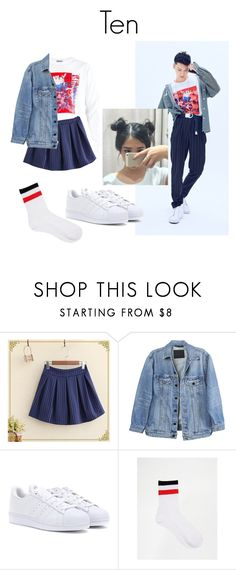 """""""Ten NCT U Teaser Image"""" by k-lookbooks ❤ liked on Polyvore featuring Y/Project, adidas and Monki"""