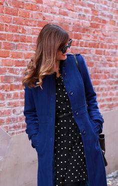 What I Wore   Cobalt Part II, @Jessica Quirk   What I Wore, blue coat