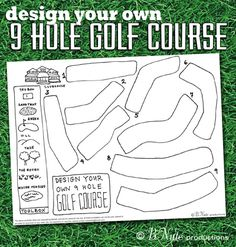 bnute productions: Free Printable Design Your Own 9 Hole Golf Course