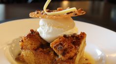 Caramel Toffee Bread Pudding from the Ryder Cup Lounge Pinehurst Resort, Casual Restaurants, Ryder Cup, Wine List, Toffee, Fine Dining, Entrees, Caramel, Ice Cream