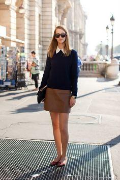 Love the skirt/sweeter combo