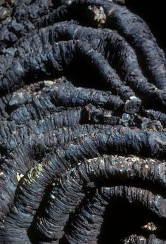 Ropey Pahoehoe lava, Craters of the Moon National Monument, Idaho (pinned by haw-creek.com)