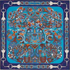 Scarf 140 Hermès | Folklore d'Henri d'Origny