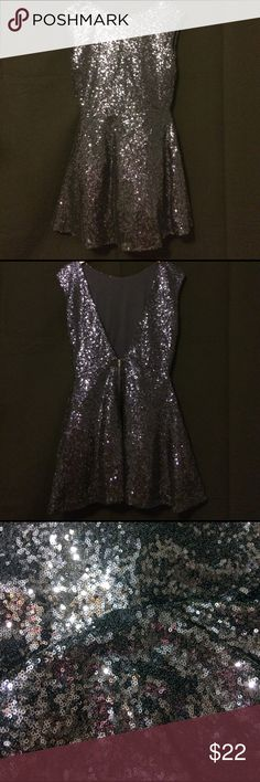 NAVY BLUE TOBI Sequin Party Dress size M LIKE NEW Navy Blue sequin dress designed by TOBI - like new condition. Never worn, all sequins secure and intact. Waist : 13 ; length (from top of shoulder to bottom of dress) 31 ; chest : 17 Tobi Dresses Mini
