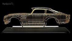 Aston Martin DB5 Wire Frame Sculpture