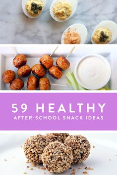 59 Healthy After-School Snack Ideas. Guilt-free grazing for you and the kids. Healthy snacks that are filling and delicious.