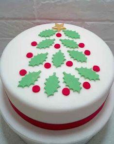 Holly Leaf Christmas Cake Topper