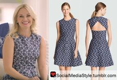 Buy Reese Witherspoon's Who What Wear Navy Print Dress, here!