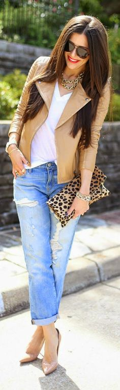 Camel Fall Moto Jacket by The Sweetest Thing