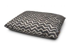 Outdoor Dog Bed in Raven Black. Water-proof designer dog bed for outdoor use.