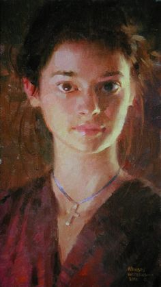 """""""Katie, Candlelit"""" -- by Morgan Weistling American) * Morgan Weistling, Face Proportions, Oil Portrait, Oil Painters, Painting For Kids, Face Art, American Artists, Art Images, Art Photography"""