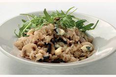 Kijk wat een lekker recept ik heb gevonden op Allerhande! Ovenrisotto met portobello en blauwe kaas