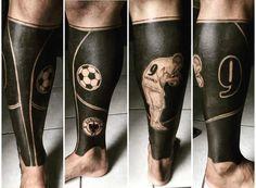 El 9 Tattoo Futbol, Messi Tattoo, Soccer Tattoos, Football Tattoo, Sport Tattoos, Dog Tattoos, Sleeve Tattoos, Tatoos, Tribal Tattoos For Men