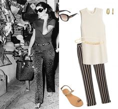 During a Mediterranean pleasure cruise with her husband, Aristotle Onassis, Jackie shopped...