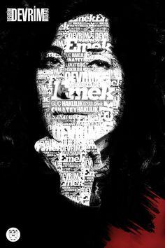 Devrim tipografi tasarım  Tasarımcı: Selamet ALKAN  - www.selametalkan.com