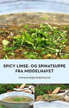 Spicy linse og spinatsuppe med smak fra middelhavet Frisk, Green Beans, Spicy, Vegetables, Food, Essen, Vegetable Recipes, Meals, Yemek
