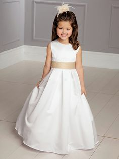 simple flower girls dress